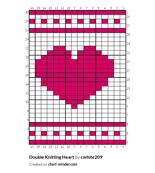 Double Knitting Heart