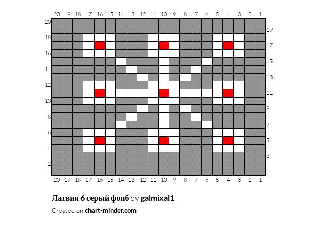 Латвия 6 серый фонб