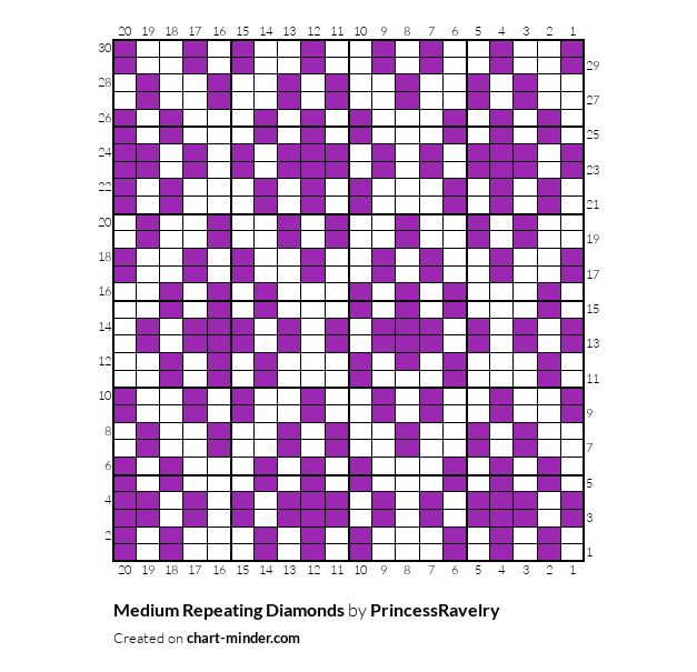Medium Repeating Diamonds