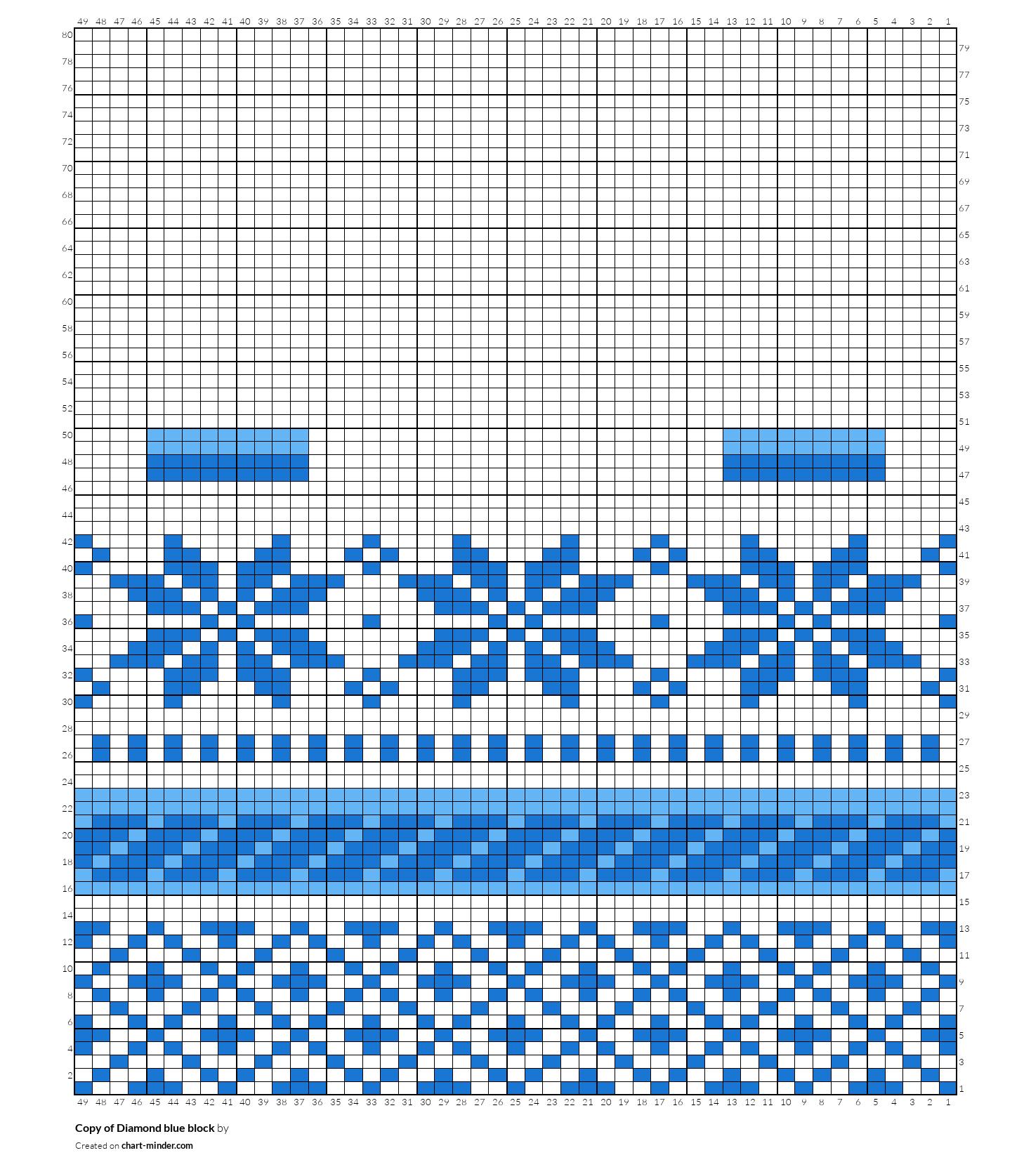 Copy of Diamond blue block
