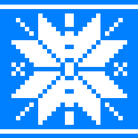 Copy of Blue Nordic Star for Hotpad