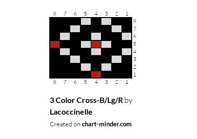 3 Color Cross-B/Lg/R