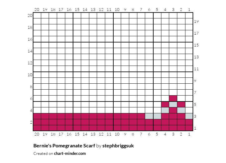 Bernie's Pomegranate Scarf