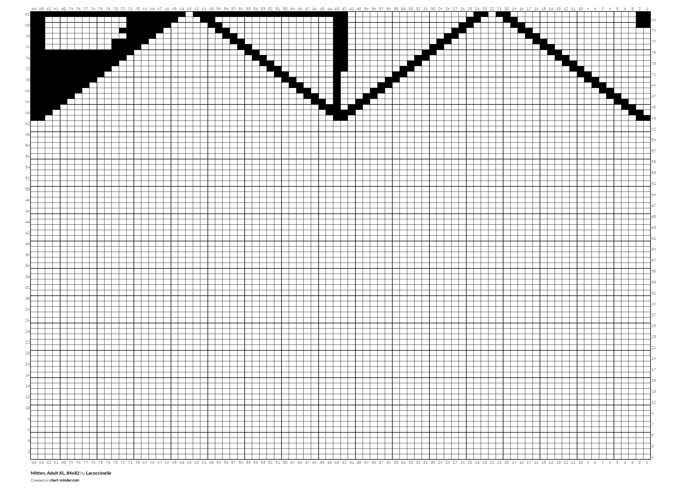 Mitten, Adult XL, 84x82