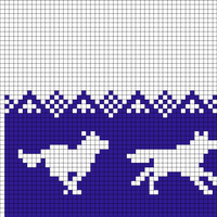 Running Wolves (48 stitches)