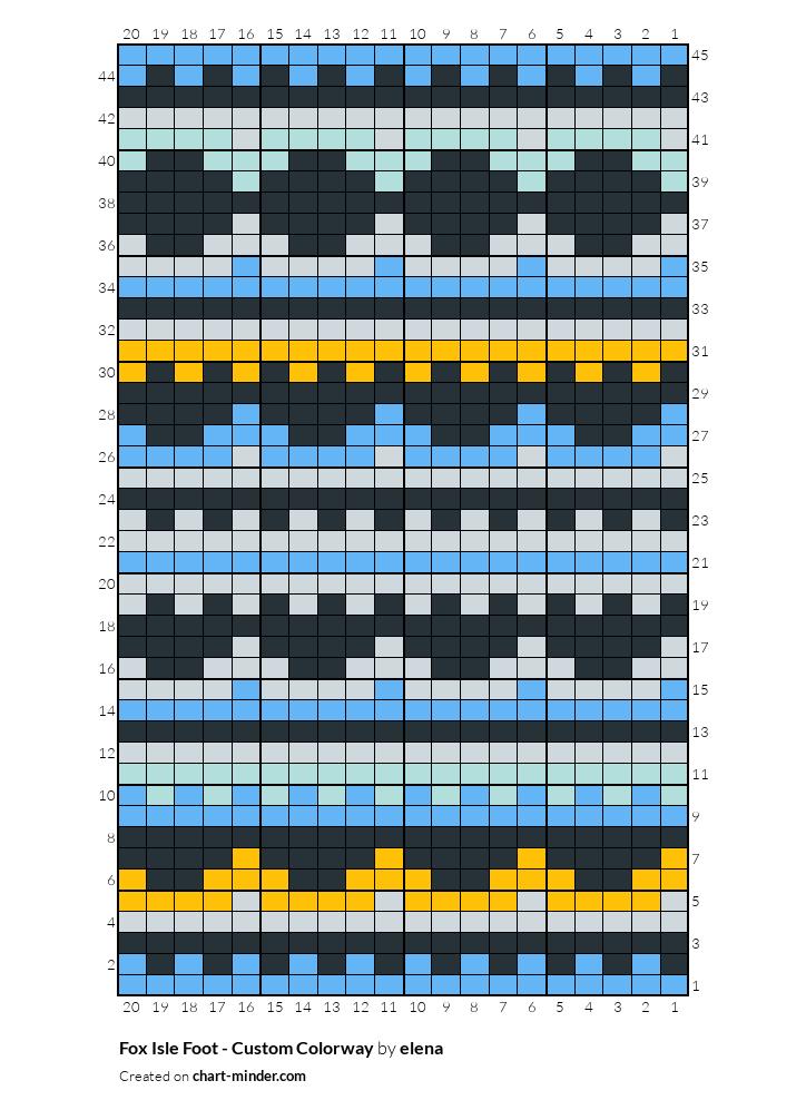 Fox Isle Foot - Custom Colorway