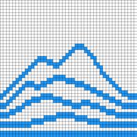 Mountains (44 stitches)