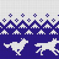 Running Wolves (50 stitches)