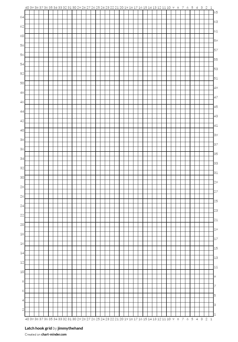 Latch hook grid