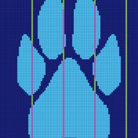 Dog paw blanket